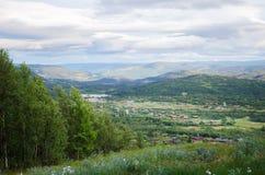Toneeldorp in Noorwegen Royalty-vrije Stock Afbeelding