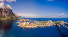 Toneeldorp in Noorwegen royalty-vrije stock afbeeldingen