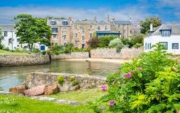 Toneelgezicht in Anstruther in een de zomermiddag, Fife, Schotland royalty-vrije stock afbeeldingen