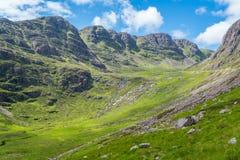 Toneelgezicht dichtbij Bealach-de Bedelaarsgezichtspunt van Na, in Applecross-schiereiland in Wester Ross, Schotse Higlands Stock Foto
