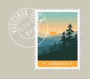 Toneelgreat smoky mountains, Virginia stock illustratie