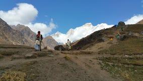 Toneelhimalayan-bergen in India royalty-vrije stock foto's