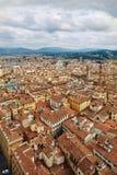 Toneelhorizonmening van Florence Firenze City Stock Fotografie