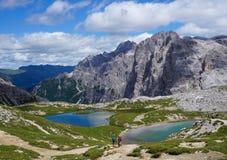 Toneellandschap in het Dolomiet stock foto