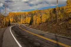 Toneelmening aan de hooglanden op byway 12 in Utah, de V.S. stock afbeeldingen