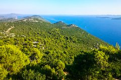 Toneelmening naar Adriatische overzees van Kroatië royalty-vrije stock afbeeldingen