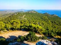 Toneelmening naar Adriatische overzees van Kroatië royalty-vrije stock foto's