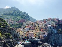 Toneelmening van Cinque Terre Italy royalty-vrije stock foto
