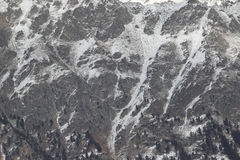 Toneelmening van de bergen, skitoevlucht Dombay Stock Foto's