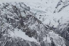 Toneelmening van de bergen, skitoevlucht Dombay Royalty-vrije Stock Fotografie