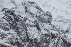 Toneelmening van de bergen, skitoevlucht Dombay Stock Afbeeldingen