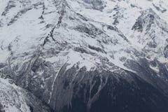 Toneelmening van de bergen, skitoevlucht Dombay Royalty-vrije Stock Foto