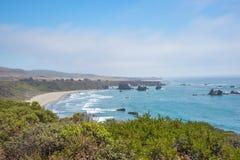 Toneelmening van de Kustlijn Vreedzame Weg 1 van Californië Royalty-vrije Stock Fotografie