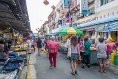 Toneelmening van de ochtendmarkt in Ampang, Maleisië stock afbeelding