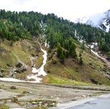 Toneelmening van de Vallei van Naran Kaghan, Pakistan Royalty-vrije Stock Afbeeldingen