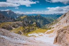Toneelmening van Dolomiet Royalty-vrije Stock Foto