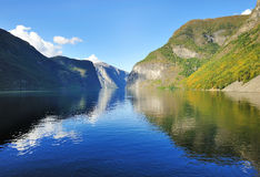 Toneelmening van Fjord in Noorwegen Stock Fotografie
