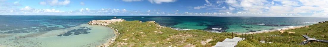 Toneelmening van het vooruitzicht van het Pinguïneiland Het mariene park van Shoalwatereilanden Rockingham Westelijk Australië Stock Afbeelding