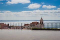 Toneelmening van Igreja DE Santo Estevao in Lissabon, Portugal Royalty-vrije Stock Afbeeldingen