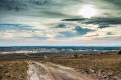 Toneelmening van Kharkov-woestijn in de herfst Royalty-vrije Stock Foto's