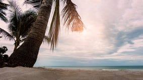 Toneelmening van mooi zandstrand in de ochtend royalty-vrije stock foto's