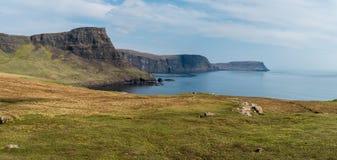 Toneelmening van Neist-Punt, Eiland van Skye in Schotland royalty-vrije stock foto