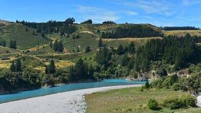 Toneelmening van Rakaia-Kloof in Nieuw Zeeland Royalty-vrije Stock Foto