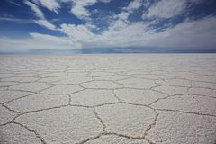 Toneelmening van Salar De Uyuni Against Clear Sky Royalty-vrije Stock Foto