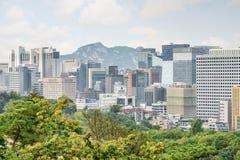 Toneelmening van Seoel in Zuid-Korea Mooie cityscape royalty-vrije stock fotografie