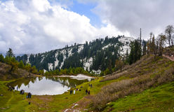 Toneelmening van Siri Paye in Kaghan-vallei, Pakistan Royalty-vrije Stock Afbeeldingen
