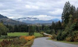 Toneelmening van Stave Lake Road Royalty-vrije Stock Foto's