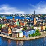 Toneelmening van Stockholm Stock Foto's