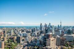 Toneelmening van Toronto van de binnenstad royalty-vrije stock afbeeldingen