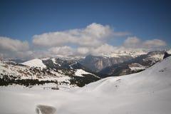 Toneelmening van van de Zuid- alpen van dolomietbergen trentino Italië Europa van Tirol - ga sella nationaal park over Royalty-vrije Stock Fotografie