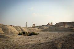 Toneelmening van woestijn, byblical plaatsen dichtbij de rivier van Jordanië, Jordanië royalty-vrije stock foto