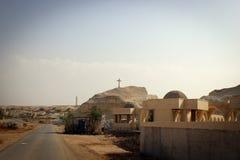 Toneelmening van woestijn, byblical plaatsen dichtbij de rivier van Jordanië, Jordanië royalty-vrije stock foto's