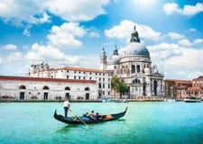 Toneelprentbriefkaarmening van Venetië, Italië Stock Afbeeldingen