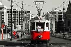 Toneelreis van Praag, historische tram Royalty-vrije Stock Fotografie