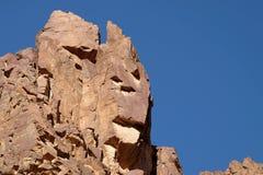 Toneelrotsen in Eilat-Bergen Stock Afbeeldingen