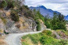 Toneelsleep langs een meer van Nieuw Zeeland royalty-vrije stock fotografie