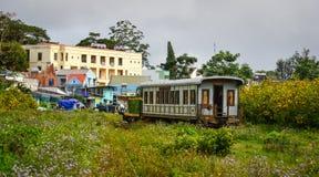 Toneeltrein in Dalat, Vietnam royalty-vrije stock afbeelding