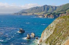 Toneeluitzicht op Route 1 van de Staat van Californië Royalty-vrije Stock Afbeeldingen