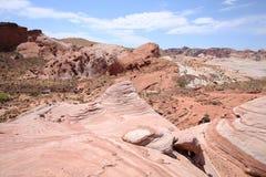 Toneelvallei van het Park van de Brandstaat in Nevada, de V.S. stock foto's