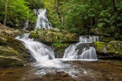 Toneelwaterval, Great Smoky Mountains royalty-vrije stock fotografie