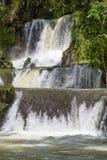 Toneelwatervallen en weelderige vegetatie in Jamaïca stock afbeeldingen