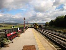 Toneelweergeven van Ribblehead-Postplatform, North Yorkshire, Engeland 2 stock fotografie