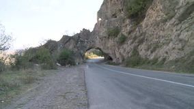 Toneelweg in Armenië stock footage