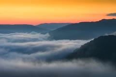 Toneelzonsopgang, West-Virginia, Nieuwe Rivierkloof royalty-vrije stock foto