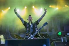 Toneladas de la roca 2014, Volbeat imágenes de archivo libres de regalías