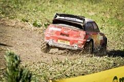 Tonelero WRC del coche de la reunión de Rc mini Imagenes de archivo